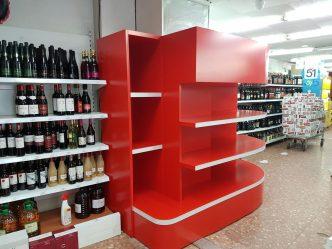 Mobiliari per supermercats mobles a mida per a botelleria a Andorra a fusteria Art som especialistes en tot tipus de mobles per a supermercats i botigues